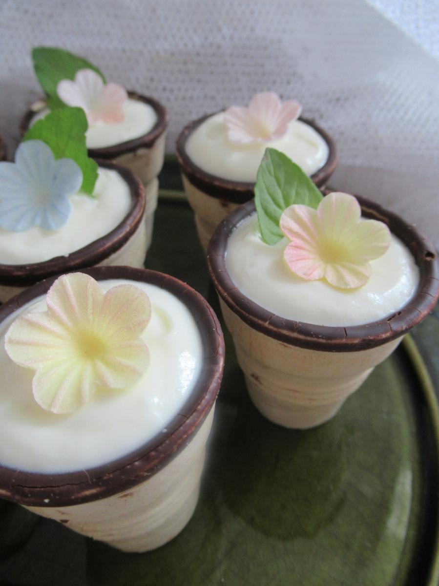 Sommer Dessert... Fresh Lemon & Mint mit Mascarponecreme im Waffelbecher