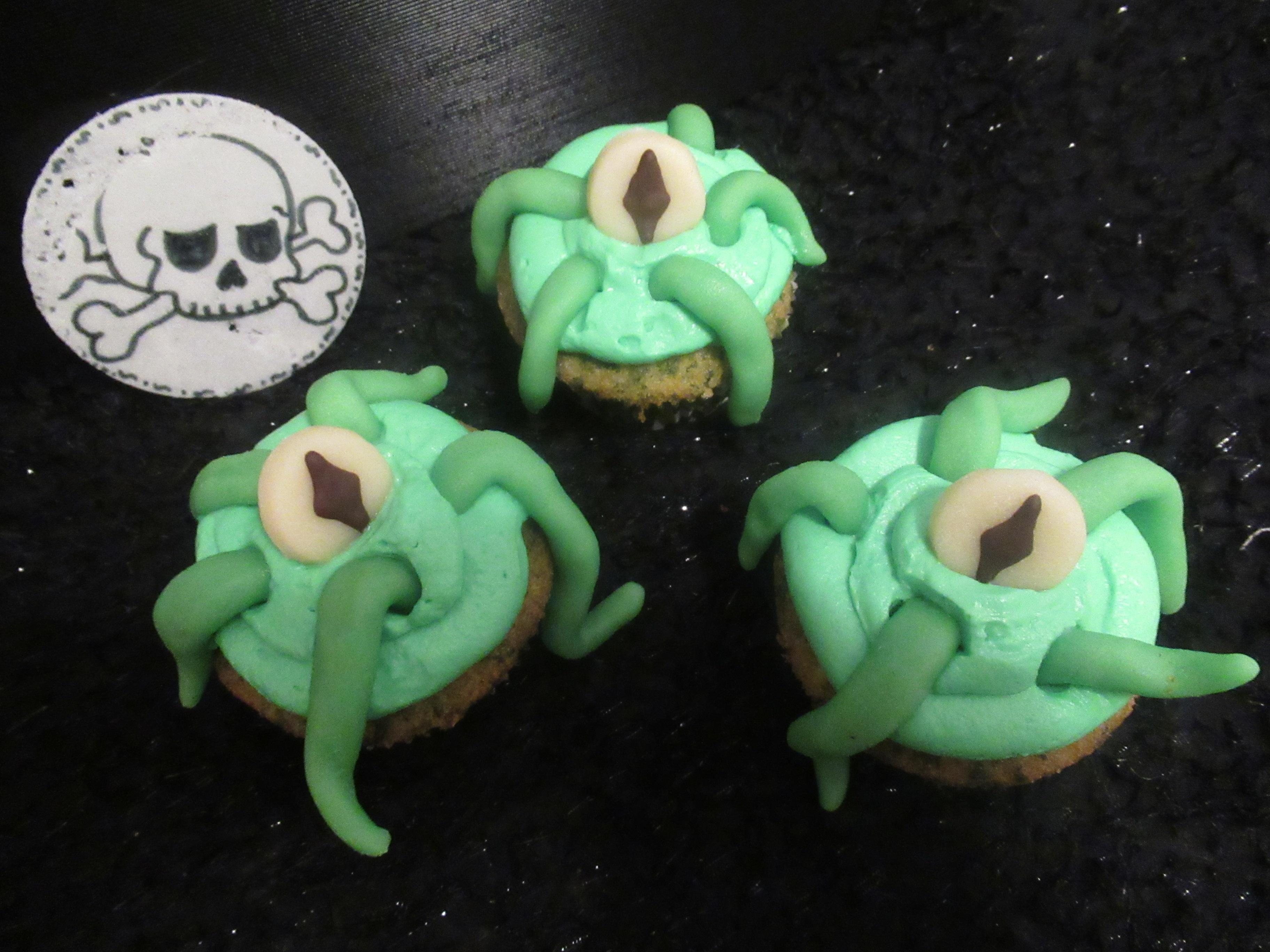 Tentakel Monster Cupcakes