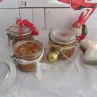 Adventskränzchen: Bratapfelküchlein im Glas